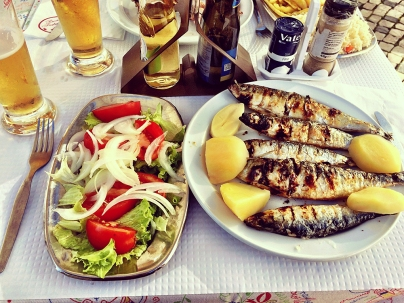 A famosa sardinha na brasa.