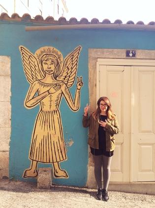 Um dos anjos espalhados pela cidade