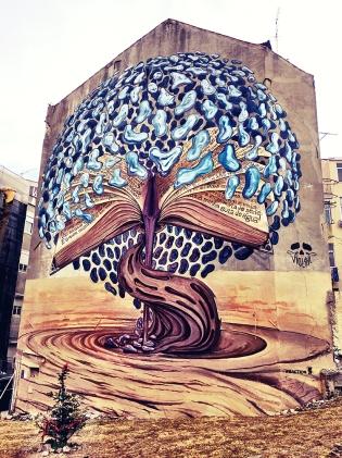 O mural de Violant na Graça